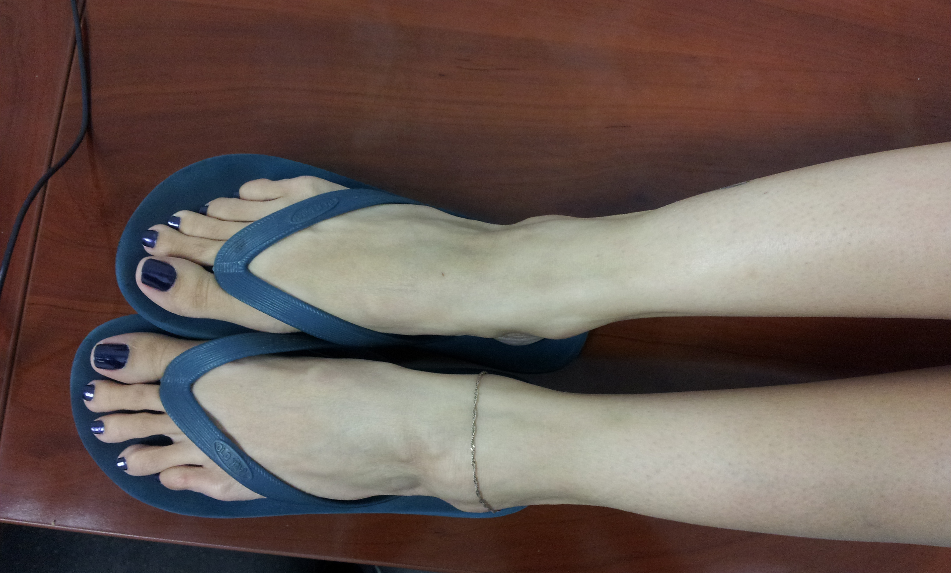 Flip flop footjob shoejob 2