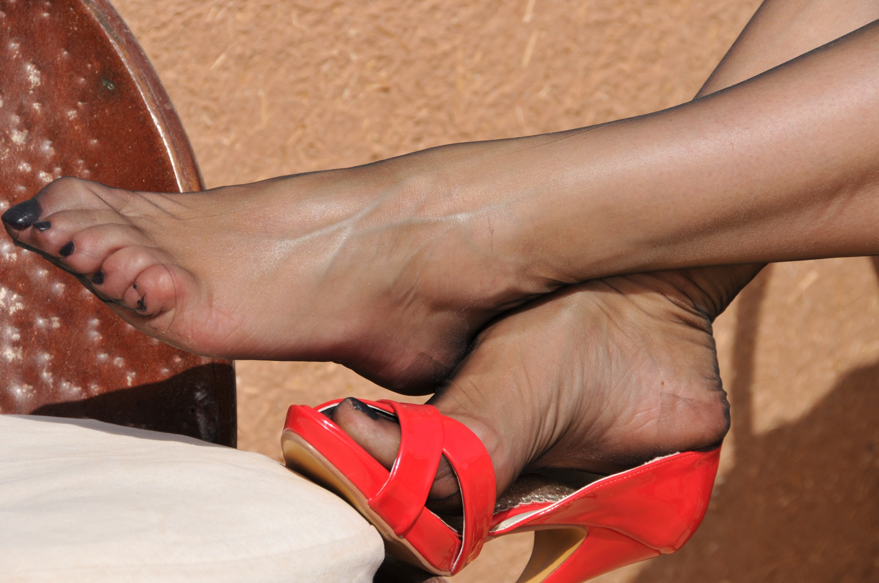 Something is. nylon feet photos the