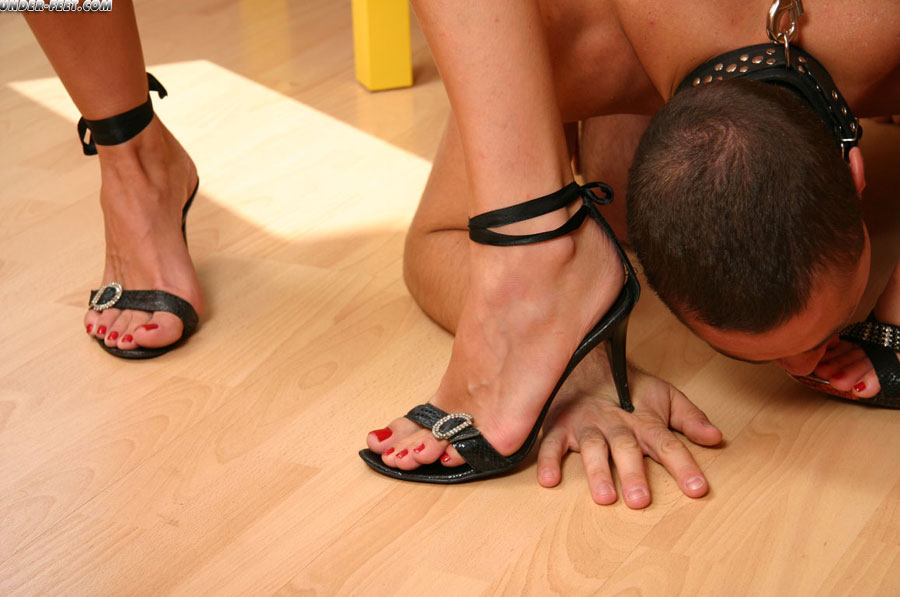 Slavery humiliation fetish licking feet